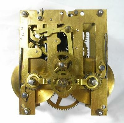 """Working Order Vintage 4"""" Brass (Marked With 3 Stars) Movement No Chime"""