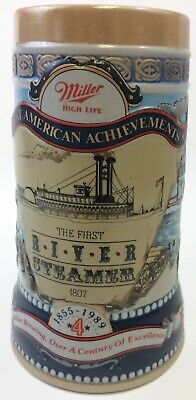Miller High Life Beer Stein Mug The First River Steamer 1807 #4 in a Series