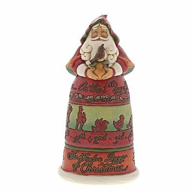 Jim Shore Heartwood Creek Enesco Twelve Days of Christmas Santa NEW 6001462
