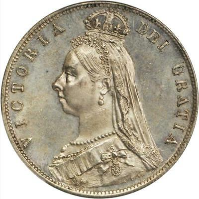 1889 GREAT BRITAIN 1/2 Crown PCGS MS-63