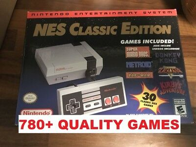 Authentic Nintendo NES Classic Mini Edition 780+ Games - Game List Shown Modded