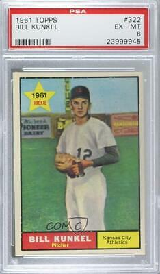1961 Topps Bill Kunkel 322 Signed Autographed Card