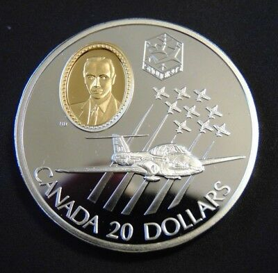 RARE Canada 1997 Aviation CT-114 TUTOR JET .925 STERLING SILVER $20 coin