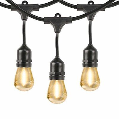 Feit Outdoor Weatherproof 48ft LED String Light Set 24 Light- 710090