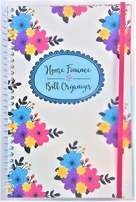 Home Finance & Bill Organizer with Pockets (Old-Fashioned Flowers)