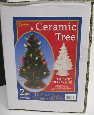 "DIY Paint Your Own Ceramic Christmas Tree 12""  New In Box"