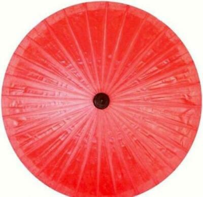 Parasol Umbrella Solid Red Painted on Oiled Cotton