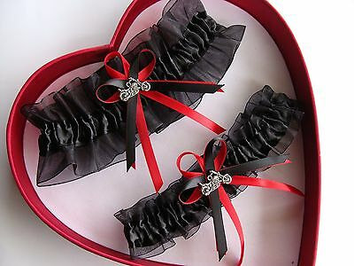Motorcycle NEW Wedding Garter White Red Prom Homecoming GetTheGoodStuff A