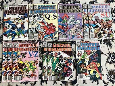 Official Handbook Of The Marvel Universe Lot - Spider-Man Thor Wolverine