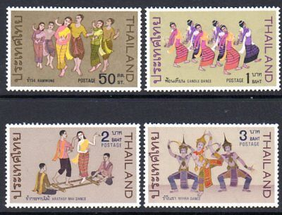 1969 THAILAND THAI CLASSICAL DANCES SG621-624 mint unhinged