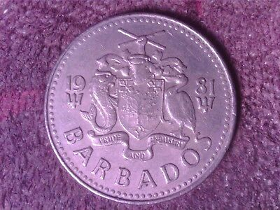 Barbados   25   Cents 1981    Frs29