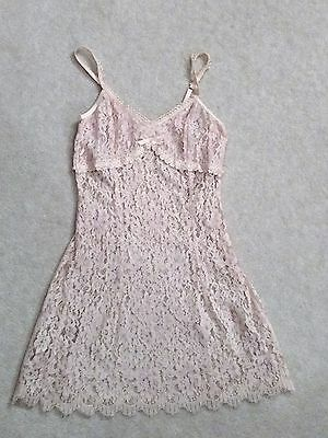 NWOT FLORA NIKROOZ Pale Pink Lace Sheer Embroidered Negligee Baby Doll – Sz S