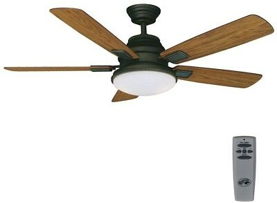 Hampton Bay Ceiling Fan Light Kit Remote Control 52 In Indoor Oil Rubbed Bronze