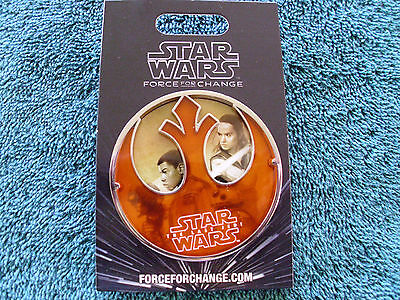 """Disney Star Wars* FORCE FOR CHANGE - LAST JEDI * New 3"""" Carded JUMBO Trading Pin"""