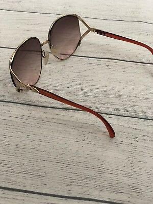 59d482722cee Vtg 80 s Ladies CHRISTIAN DIOR Gold Pink Gradient Lens Sunglasses-2250 48  63-17