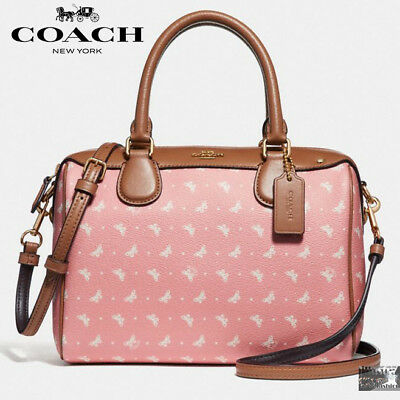 4624d23300b3 NWT COACH F29806 Mini Bennett Satchel crossbody Butterfly Dot Print Blush  Chalk -  123.50