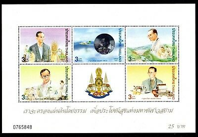 1996 THAILAND KING BHUMIBOL NATIONAL DEVELOPMENT minisheet SG1866 mint unhinged