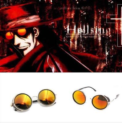 Anime Vampire Hunter HELLSING Alucard Tailored Cosplay Glasses Orange Sunglasses