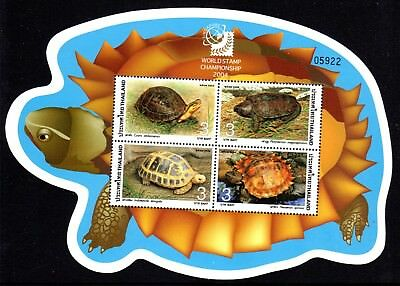 2004 THAILAND TURTLES minisheet Singapore Exhibition mint unhinged