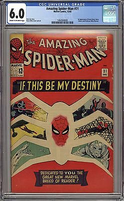 Amazing Spider-man 31 CGC 6.0 - Cream to Off White Pages - 1st Gwen Stacy