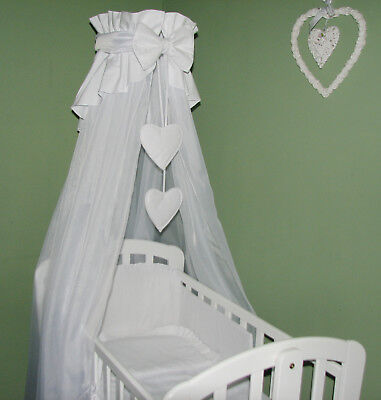 LOVELY NURSERY CANOPY DRAPE /HOLDER for BABY COT / COTBED / COT BED