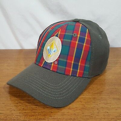 Boy Scout BSA Cub Scout Webelos Green Plaid Boys Fitted Style Baseball Cap Hat
