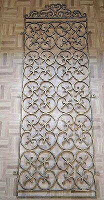 Vintage Mid Century Decorative Architectural Salvage Door Security Grille