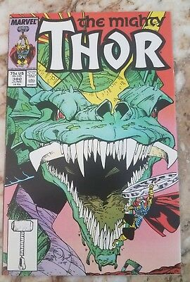 Mighty Thor #380 Vf+ Midgard Serpent 1 Simonson Buscema 1987 High Grade Comic