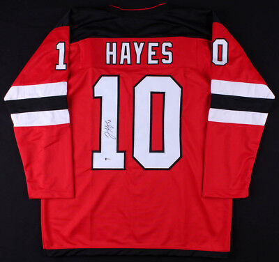 Jimmy Hayes Signed Devils Jersey (Beckett COA) New Jersey Right Winger c7ca7cd72