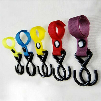 Pushchair Pram Buggy Stroller Shopping Bag Baby Handle  Clip Strap Hook T0
