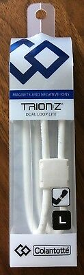 Trion Z Dual Loop Lite Magnetic Ionic Bracelet White Size Large  NEW!