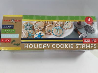 Cast Cookie Stamps Nordic Ware Holiday  3 Piece Set Limited amount