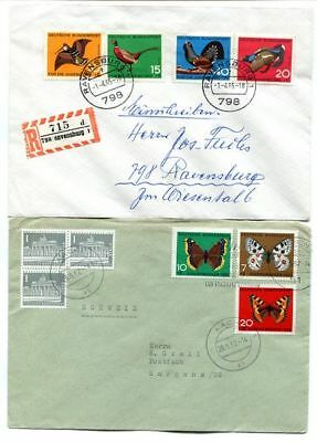 Interesting Lot of  6 Germany Covers with Good Semi Postal Stamps 1960/68 PH3173