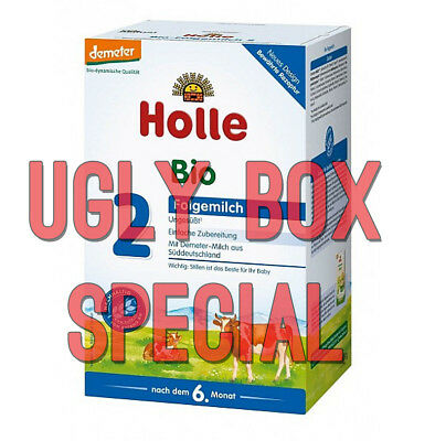 HOLLE STAGE 2 ORGANIC MILK BABY FORMULA 600g - UGLY BOX - FREE SHIPPING