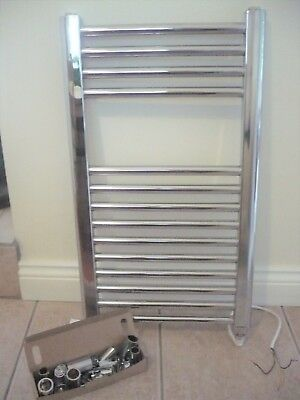 Chrome 240v Electric Radiator for your Bathroom, Utility. Work Shed, Green House