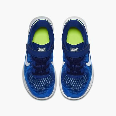 163269773d110 Kid s Nike Free RN 2017 PSV Running Shoes - Blue White 904259-400 SIZE