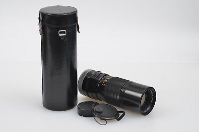 EXC++ CANON FD 100-200mm F5.6 SC BREECH MOUNT ZOOM LENS, CAPS, CASE, NICE!