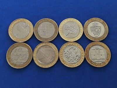 2 COLLECTABLE TWO Pound Coins-Shakespeare-King James Bible