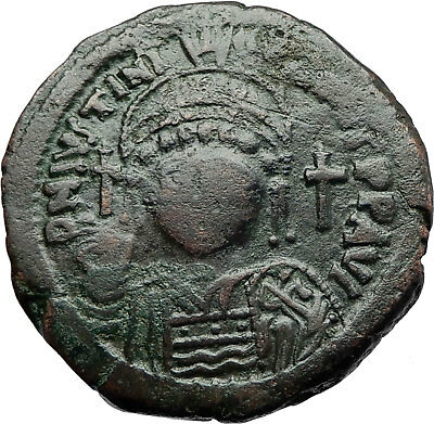 JUSTINIAN I the GREAT 527AD Follis Authentic Ancient Byzantine Coin  i70519