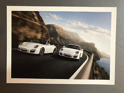 2010 Porsche 911 Carrera GTS Coupe & Cabriolet Factory issued Post Card RARE!!