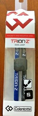 Trion Z Dual Magnetic Therapy Ionic Bracelet Blue and Black Small  NEW!!