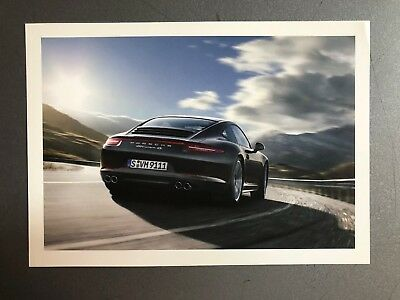 2012 Porsche 911 Carrera 4S Coupe Postcard RARE!! Awesome L@@K