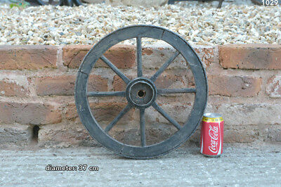 Vintage old wooden cart wagon wheel  / 37 cm - FREE DELIVERY