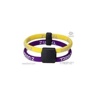 Trion Z Dual Magnetic Ionic Wristband Bracelet Yellow Purple Size Small  NEW!!