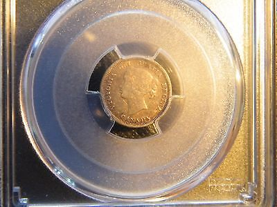 PCGS VF35 1858 CANADA 5 CENTS SILVER SMALL DATE auctione17e