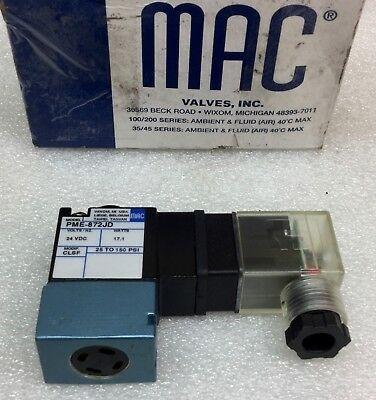 Mac Pme-872Jd Pneumatic Solenoid Pilot Valve 24Vdc New In Box