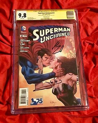 Cgc Ss 9.8~Superman Unchained #2~Ltd~Signed Wonder Woman Gal Gadot+Henry Cavill