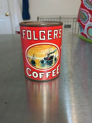 Vintage Flogers Coffee Puzzle Can - Unopened !