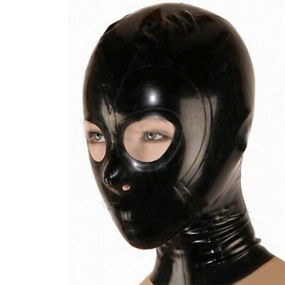 Latex Hood Open Eyes and Nostrils Handmade Rubber Mask Club Wear Costumes