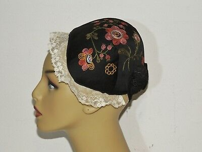 Victorian Hand Embroidered Ethnic ? Hat / Cap Young Girl
